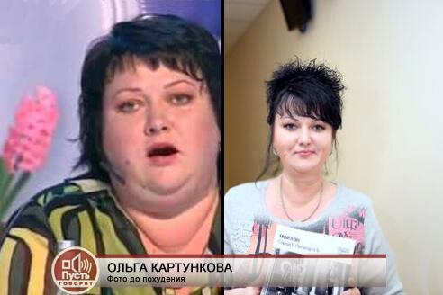 Ольга Картункова - звезда КВН, история похудения